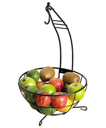 Creative Home 73446 Harvest Home Metal Kitchenware Deluxe Banana Tree/Fruit Bowl, 18.5-Inch (Creative Fruit Bowl compare prices)