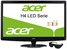 Acer HR274Hbmii 68,1 cm (27 Zoll) 3D LED Monitor (VGA, HDMI, 2ms Reaktionszeit) schwarz inkl. Polarisationsbrille ab 332,- Euro inkl. Versand