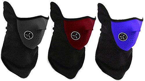 【全3色】 防寒 対策 の必需品 フェイス マスク & ネック ウォーマー  スキー スノボー ウィンター スポーツ や バイク での ツーリング の際にぜに ブラック