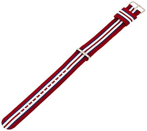 Daniel Wellington Exeter Silver Men'S Multicolour Nylon Buckle Watch Strap With Pin Of 20Cm 0412Dw