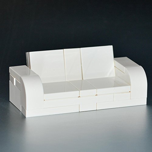 LEGO Furniture: White Couch - Custom Sofa Set w/ Parts & Instructions - 1