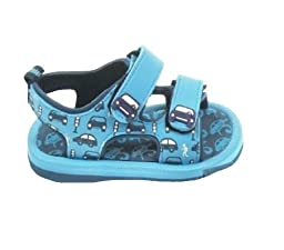 Blue Cars Theme Sandals for Baby Boy 21-24 Months (5\