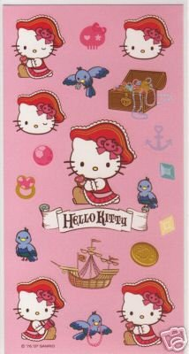 Hello Kitty Stickers: Pirate - Buy Hello Kitty Stickers: Pirate - Purchase Hello Kitty Stickers: Pirate (Hello Kitty, Toys & Games,Categories,Arts & Crafts,Stamps & Stickers)