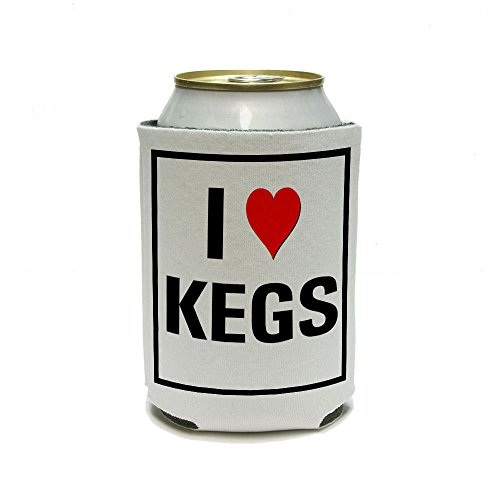 I Love Heart Kegs Can Cooler - Drink Insulator - Beverage Insulated Holder front-587999