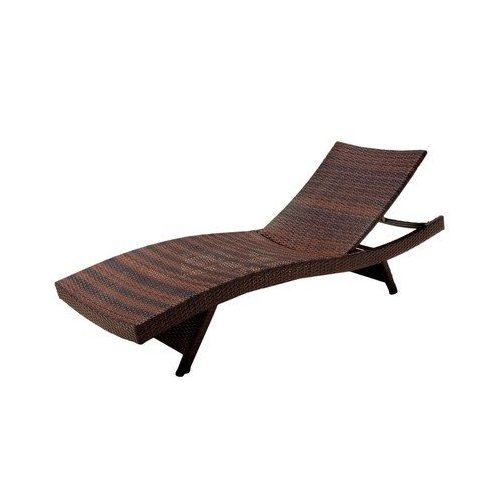 Best Selling Outdoor Adjustable Wicker Lounge, Brown, 1-Pack photo