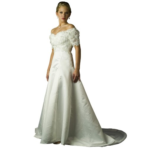 Wedding Dress Gown - Ivory Bridal Gown, Ivory Dress, Informal Bridal Gown by Formal Gallery (B7983) Ivory