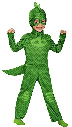 Green Disguise Gekko Classic Toddler PJ Masks Costume Halloween Idea