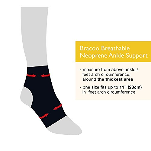 Bracoo Breathable Neoprene Ankle Support, One