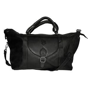 NBA New Jersey Nets Black Leather Top Zip Travel Bag by Pangea Brands