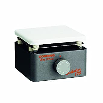 "Corning PC-170 Scholar Hot Plate with 5"" x 5"" Enameled Steel Top, 25 to 360 Degrees C"