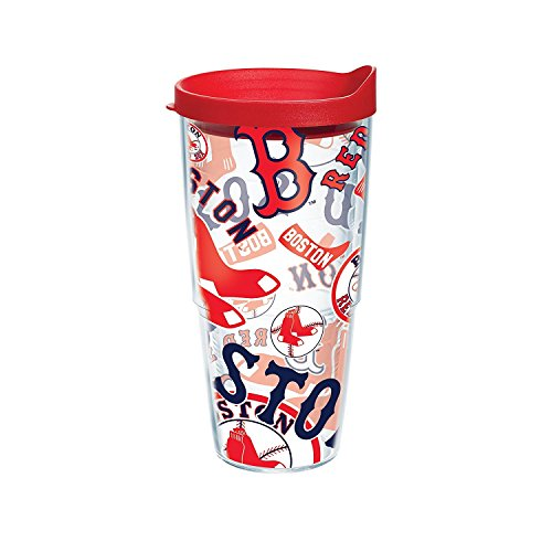 Tervis MLB Boston Red Sox All Over Tumbler with RD1 Travel Lid, 24 oz, Clear (Red Sox Tervis Tumbler With Lid compare prices)