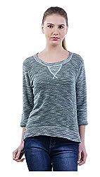 MERCH21 Women's Regular Fit Top (MERCH-348-MULTICOLOR, Grey, S)