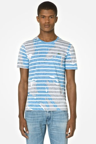 L!VE Short Sleeve Camouflage Landscape Stripe T-shirt