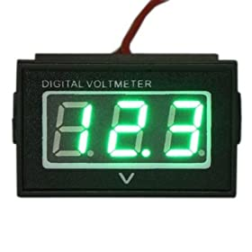 RioRand 2 Wire Dc 2.7-30v Waterproof Car Battery Condition Gauge Auto/motorcycle Volt Meter Green LED