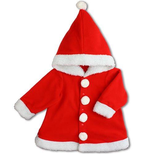 【サンタクロース】ワンピース フード付 80cm ベビー コスチューム 衣装 仮装 防寒【ハロウィン】【クリスマス】