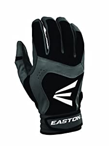 Easton Youth Stealth Core Batting Gloves (Small, Black/Black)