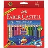 Faber Castell Colour GRIP Water Colour Pencils 24 Shades