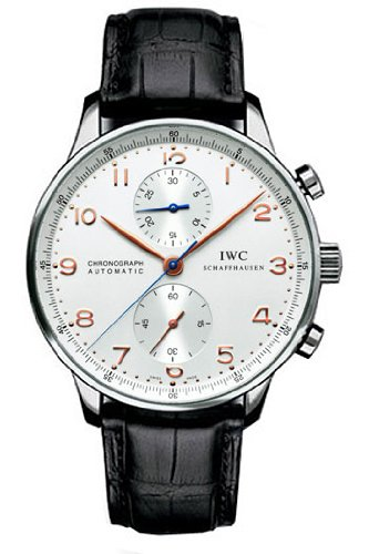 IWC Portuguese Chrono Automatic Steel Black Mens Watch IW371401