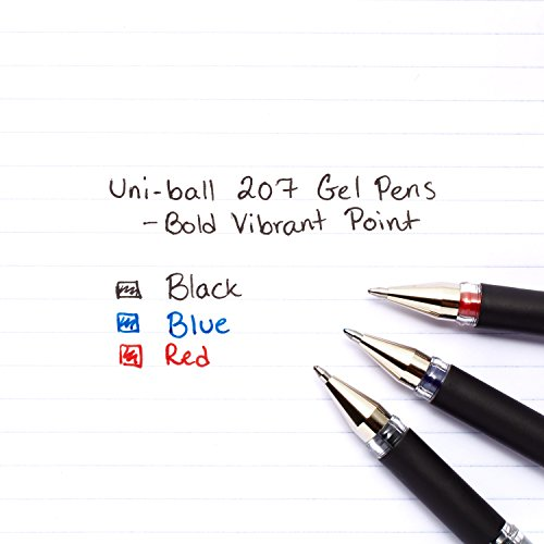 Audace punto di penna Gel di impatto di UNI-Ball-blu