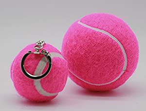 Price's Number Tennis Ball Keyrings Mini Tennis Balls on a Chain Made in the UK from PRICE OF BATH
