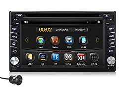 See Pumpkin 6.2 Inch In Dash HD Touch Screen Car DVD Player GPS Navigation Stereo Support Bluetooth/SD/USB/DVR/3G/1080P with Free Rear View Camera Details