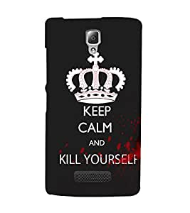 EPICCASE Madness calm Mobile Back Case Cover For Lenovo A2010 (Designer Case)