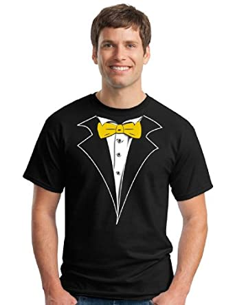 Amazon.com: Classic Black Tuxedo T-Shirt with Yellow Gold