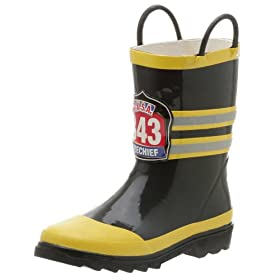 Western Chief Toddler/Little Kid Fireman Rain Boot