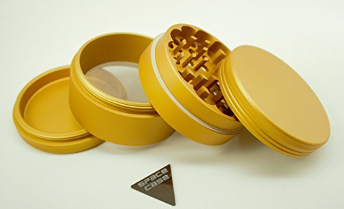 SPACE CASE Large Grinder Sifter Magnetic Gold 4 piece (Space Case 4 Piece Large compare prices)