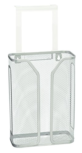 Decobros Over The Cabinet Door Bag Holder Silver Hardware
