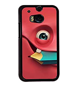 Fuson Premium 2D Back Case Cover Smily With pink Background Degined For HTC One M8::HTC M8