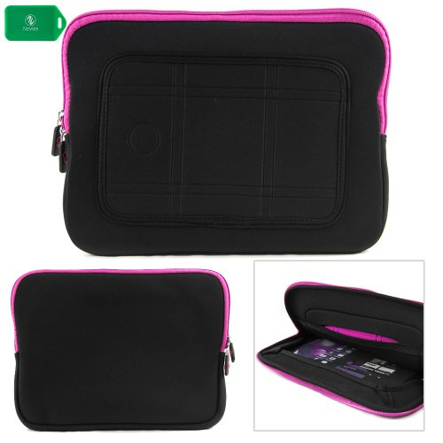 NEOPRENE Note- SLEEVE WITH INTERNAL POCKET- BLACK/PINK- FOR Kocaso MID_M1062