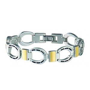Buy Sabona Mens Horseshoe Duet Magnetic Bracelet (Various Sizes) by Sabona