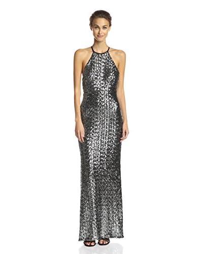 A.B.S. by Allen Schwartz Women's Texture Halter Gown