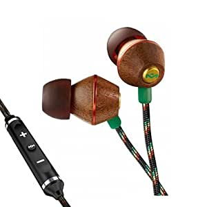 House of Marley People Get Ready In-Ear Headphones with 3 Button Mic - Rasta (discontinued by manufacturer)