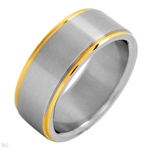 Irresistible Brand New Gentlemens Ring Well Made in 14k/stsl Gold Plated Stainless Steel and Stainless Steel Size 11