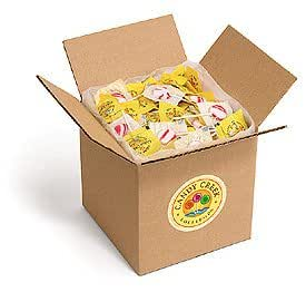 Candy Creek Sugar Free Zany Cane Peppermint Lollipops, Bulk 3 lb. Carton