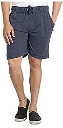 Broche Men's Cotton Shorts (Broche9008-M, Blue, Medium)