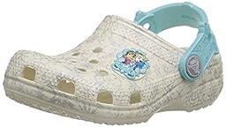 crocs Classic Frozen Clog (Toddler/Little Kid), Oyster, 2 M US Little Kid