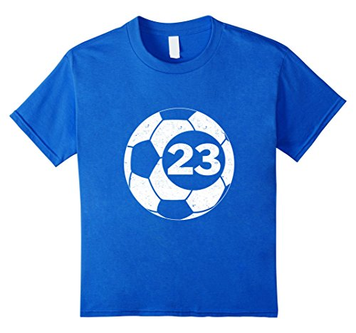 Kids Soccer Player Jersey Number 23 Twenty Three Graphic T-Shirt 10 Royal Blue (Jersey With Numbers compare prices)