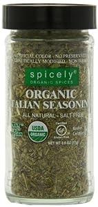 Spicely Jar Organic Seasoning, Italian Salt Free, 0.6 Ounce