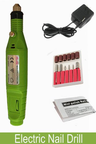 Belle® Pen Shape Electric Nail Drill Art Manicure File Tool,Green