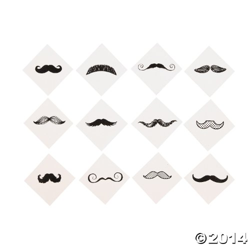 Mustache Party Tattoos