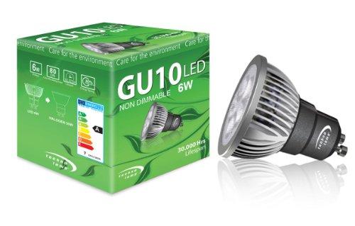 Technolamp Led Bulb Gu10 6W 400Lm 4000K Neutral White 24° Non-Dimmable 110-120V
