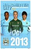 Manchester City FC - Official Team Calendar 2013, Ships from USA