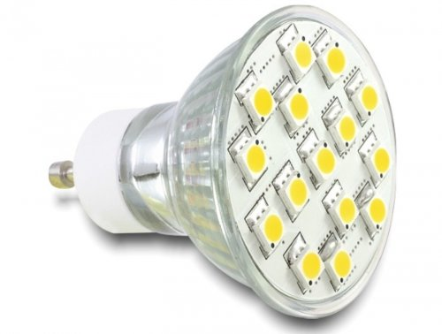 LED GU10 Leuchtmittel, 15x SMD LED, 3,5W warmweiß