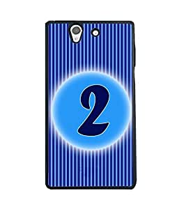 Printvisa 2D Printed Numerology Designer back case cover for Sony Xperia Z - D4219