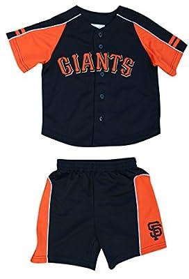 MLB Toddler San Francisco Giants Baseball Shirts & Shorts Sets - Black & Orange