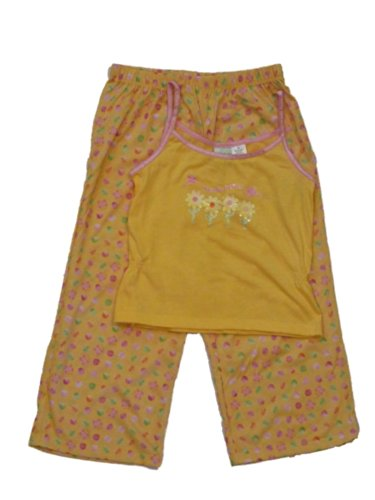 Circo Girls Yellow Butterfly Sleepwear Set Daisy Pajamas Pjs front-847417