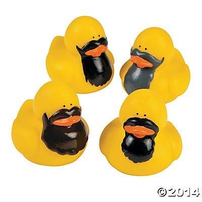 Bearded Rubber Ducks - 12 pcs - 1